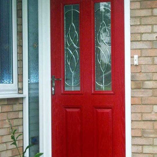 Glazed front doors