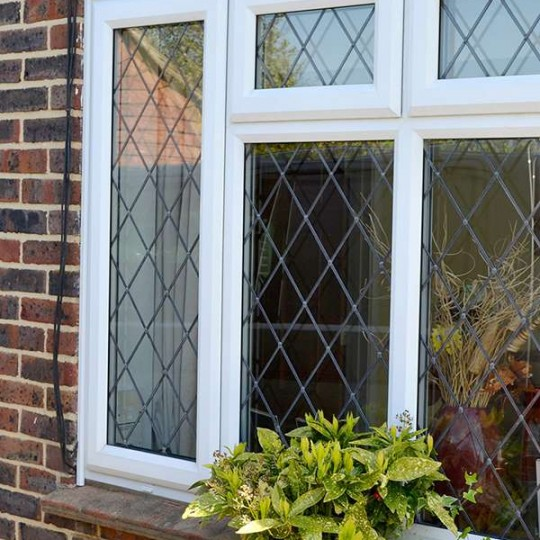 uPVC leaded windows