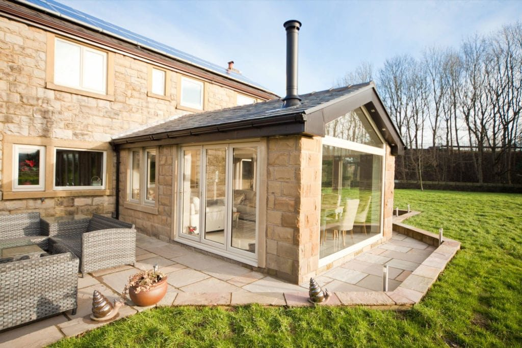 double glazing morden extension